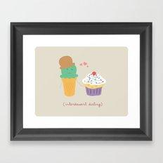 Inter-Dessert Dating Framed Art Print