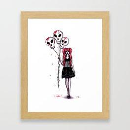 Balloons Gothic Lolita Drawing Framed Art Print