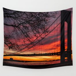 Sunrise at the Bridge Wall Tapestry