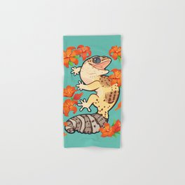 Fire lily gecko Hand & Bath Towel