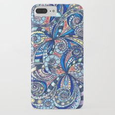 Drawing floral abstract background G7 iPhone 7 Plus Slim Case