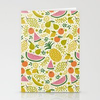 fruit Stationery Cards featuring Fruit Mix by Anna Deegan