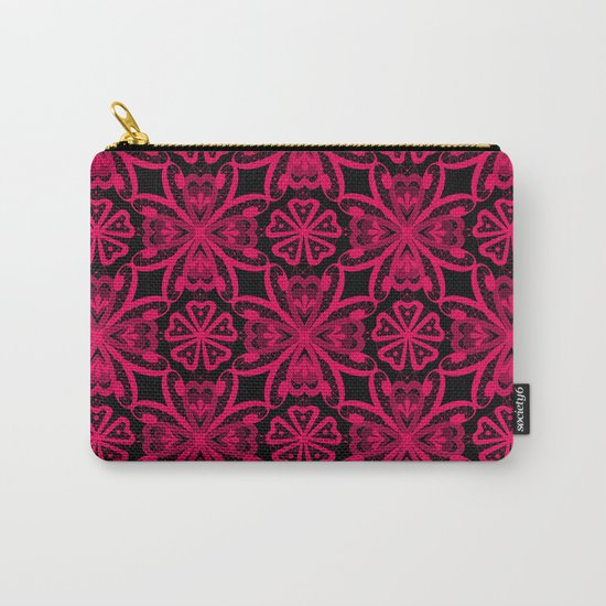 Red Lace on black . Carry-All Pouch