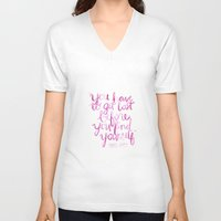 paper towns V-neck T-shirts featuring Paper Towns Quote by mekaylanicole