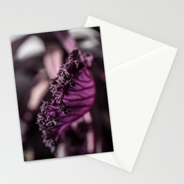 Abstract Purple Leaf in Morning Light Stationery Cards