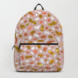 Terrazzo Golden Rose Backpack