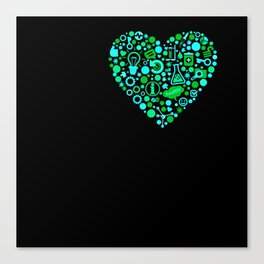 I Heart Stem Cell Research Canvas Print