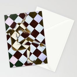 Survive Nude Woman Checkered 3 Stationery Cards