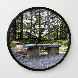 Stop, sit down and just listen to the nature Wall Clock