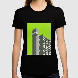 Trellick Tower London Brutalist Architecture - Lime T-shirt