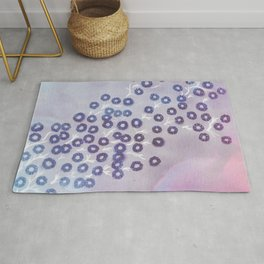 Small lilac flowers Rug