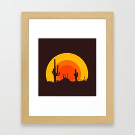 mucho calor Framed Art Print