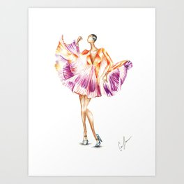 Pleats on Pleats Art Print