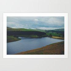 Kinder Reservoir, Peak District, England Art Print