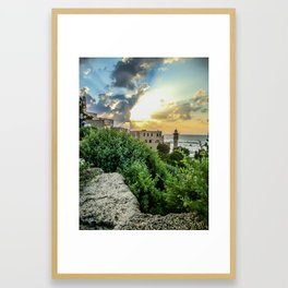 Sunset Old Jaffa Framed Art Print
