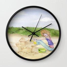 Sand Castles - Oregon Coast Wall Clock