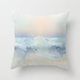 Ocean Splash Throw Pillow