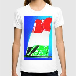 Italian tricolor flag pop T-shirt