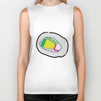 sushi Biker Tanks featuring Sushi by Andrew Lynne