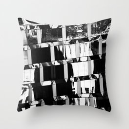 Balance - Glass Building in New York City Throw Pillow