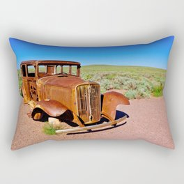 Relic of Historic Route 66 in Arizona Rectangular Pillow