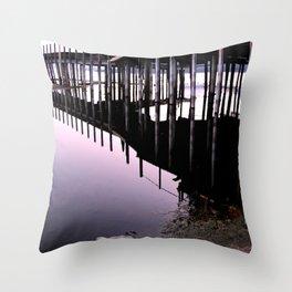 Purple Pier - South Lake Tahoe, California Throw Pillow