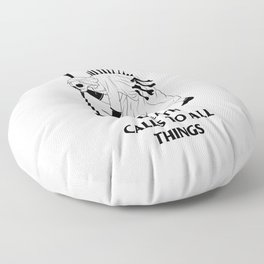 Death Calls to All Things Floor Pillow