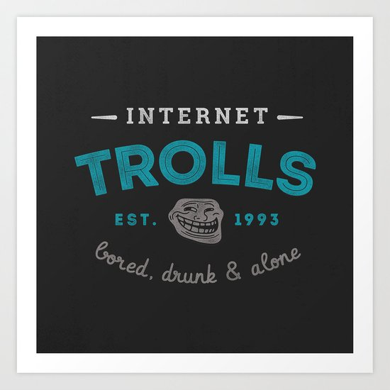 The Scourge of the Internet Art Print