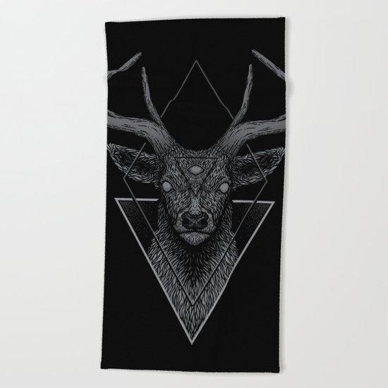Dark Deer Beach Towel