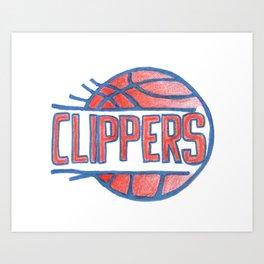 CLIPPERS hand-drawn design Art Print