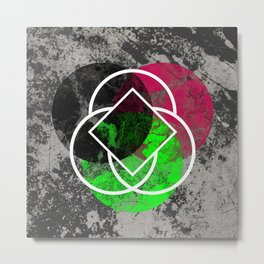 Textured Trio - Abstract, Geometric, Textured Artwork Metal Print