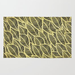 Pattern with golden leaves Rug