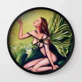 Absinthe Fairy Wall Clock