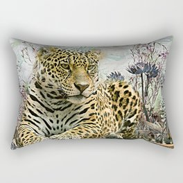 Lingering Leopard Rectangular Pillow