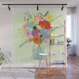 Bringing Summer Wildflowers Inside Wall Mural