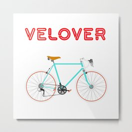 VeLover - Girl – June 12th – 200th Birthday of the Bicycle Metal Print