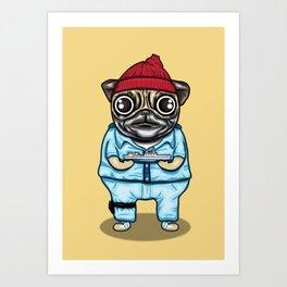 The Life Pug of Steve Zissou Art Print