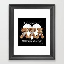 Teddy & Lily Framed Art Print