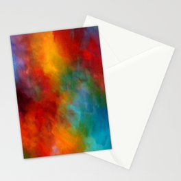 Lovely Colorful Clouds Two - Digital Abstract Painting Stationery Cards
