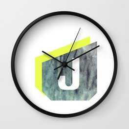 Letter J Wall Clock