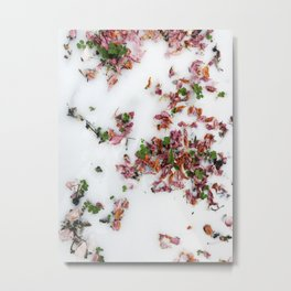 Milky Floral Metal Print