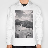 switzerland Hoodies featuring Switzerland BW by Heather Hartley