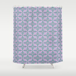 Turquoise Lasso Cowgirl Pink and Green Arrowhead Cowgirl Dreams Abstract Southwestern Design Pattern Shower Curtain