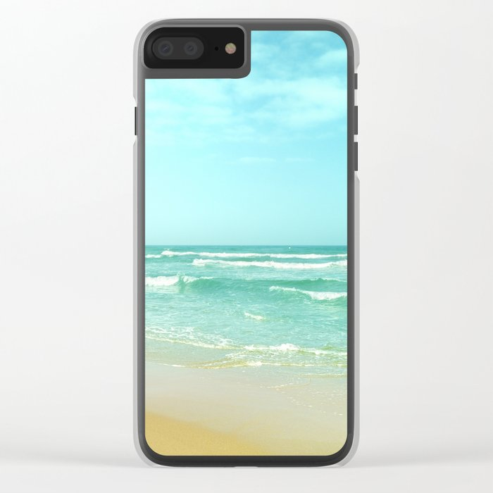 Vintage summer Clear iPhone Case