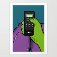 hulk Art Prints featuring hulk by mark ashkenazi