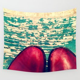 Red Boots and Possibilities Wall Tapestry