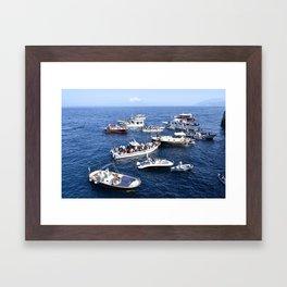 Blue Grotto at Sea Framed Art Print