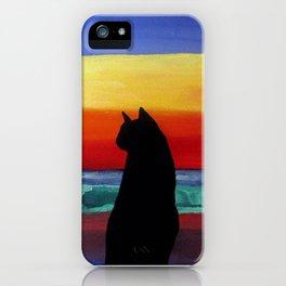 Cat on the Beach iPhone Case