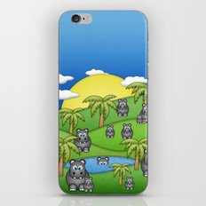 Hippos. iPhone & iPod Skin