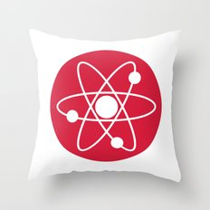 Atom Symbol Throw Pillow